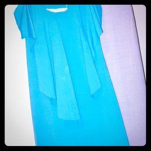 Teal Susan Monaco mini dress/cover up!